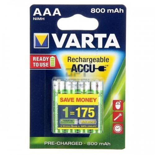 Аккумулятор Varta R03 AAA BL4 NI-MH R2U 800mAh (4/40/200) (цена з