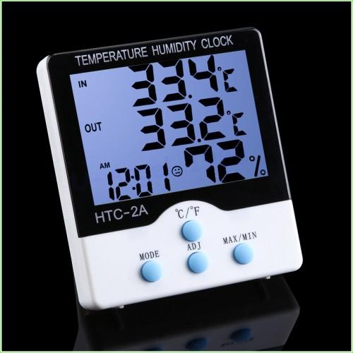Термометр + гигрометр НТС-2А NEW (Out/In, clock, влажность)