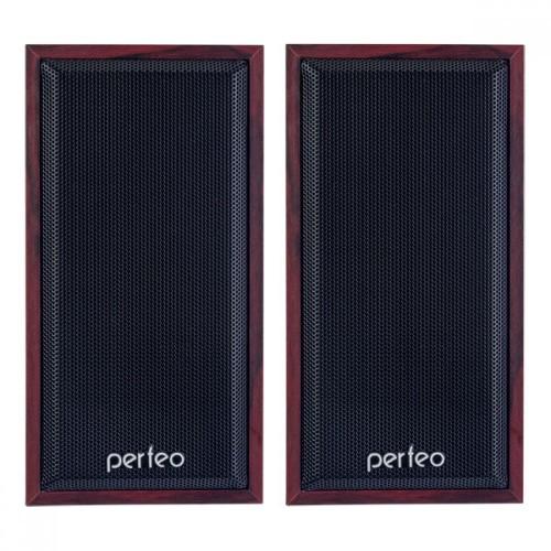 Колонки Perfeo CABINET USB 2.0 2х3 Вт (RMS), махагон, USB PF_A438