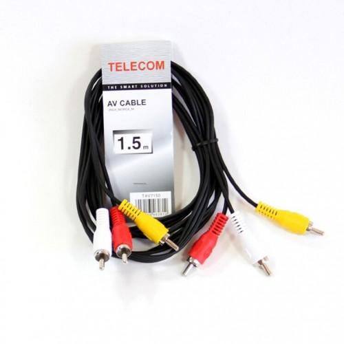 Кабель соединительный Telecom 3xRCA (M) - 3xRCA (M), 1,5m