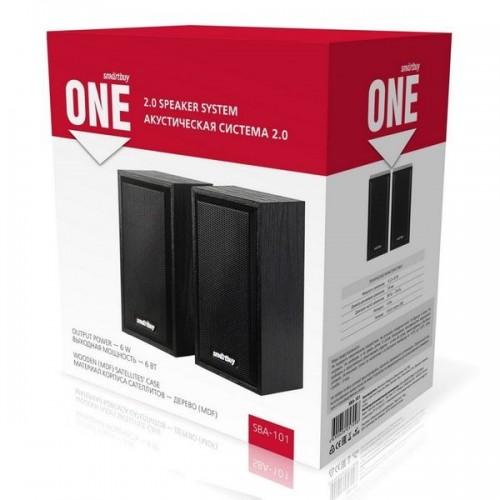 Колонки SmartBuy 2.0 ONE, черный, дерево, 6 Вт, питание от USB SB