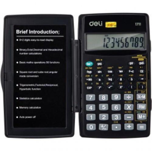 Калькулятор научный Deli E1711 черный 8+2-разр.