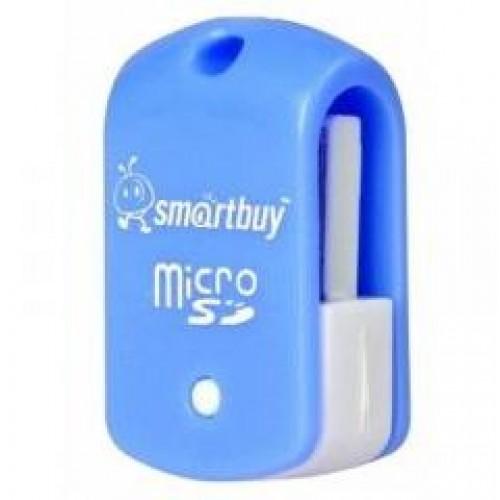 Картридер Smartbuy MicroSD, голубой (SBR-706-B) (1/20)