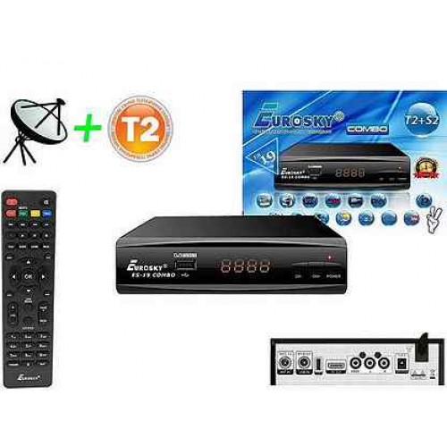 Smart приставка Eurosky COMBO T2+S2 ES-19 FullHD, IPTV, PRV, Inte