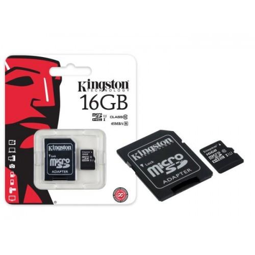Карта памяти Kingston 16GB Class 10 UHS-I (80 Mb/s) + SD адаптер
