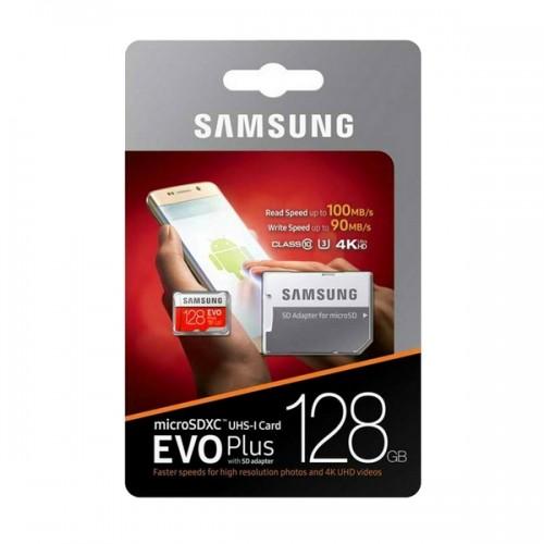 Карта памяти Samsung 128GB Class 10 Evo Plus UHS-I U3 (90 Mb/s) +