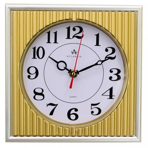 Часы настенные Atlantis TLD-6911 серебро 223x223x40 мм
