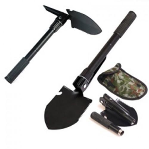 Лопатка Турист В-08 (2х секц.ручка, нож-пила, стеклобой, кирка)