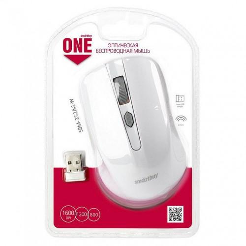Мышь Smartbuy ONE 352, безпроводная,white