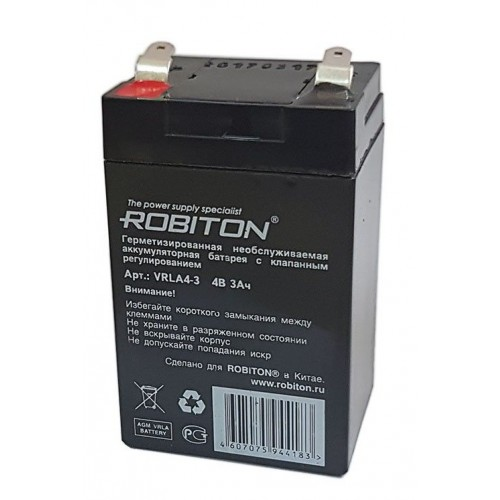 Аккумулятор Robiton VRLA 4-3 4В