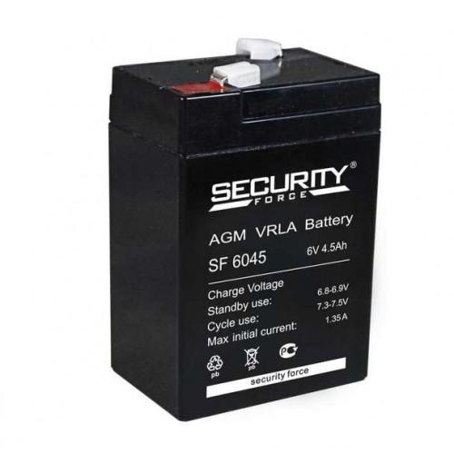 Аккумулятор SF 6045 Security Force 6V 4,5 Ah