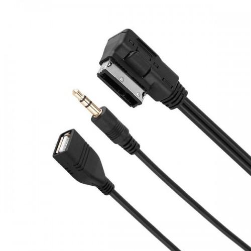Кабель удлинитель USB (AM) - AUX 1m