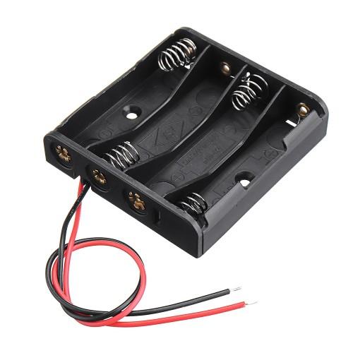 Отсек для элементов питания ET AA 4S1P-W с проводами 1 / 4 / 100