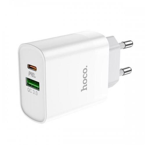 Зарядное устройство Hoco C80A Rapido PD+QC3.0 charger White