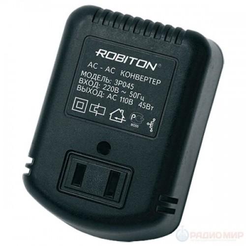 Конвертер-Трансформатор Robiton 3P045 220В-110В без заземления