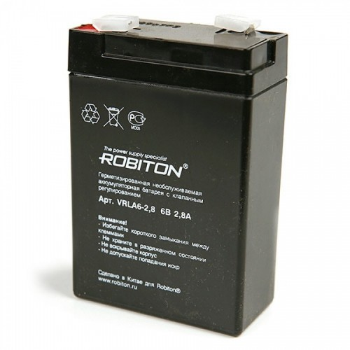 Аккумулятор Robiton VRLA 6-2.8 6V 2,8 Ah (25)