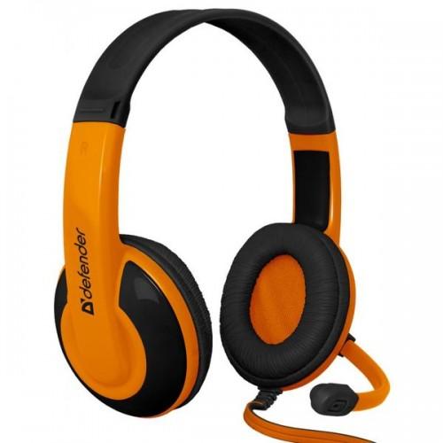 Наушники Defender G-120 Warhead с микрофоном игровые оранжевый