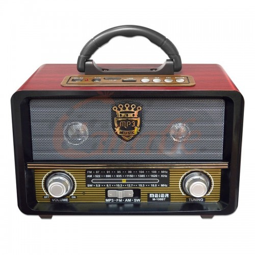 Радиоприемник MEIER 108 FM/USB/Bluetooth/DC