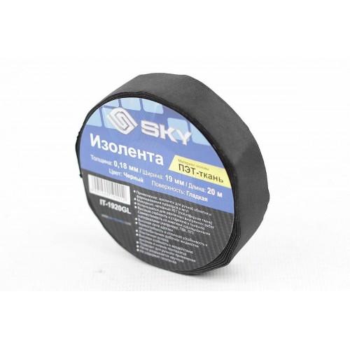 Изолента SKY IT-1920SV (ворс/черная) 19*20мм
