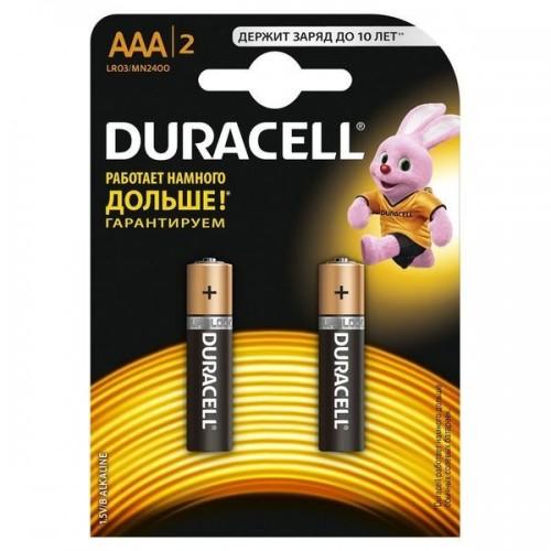 Элемент питания Батарейка Duracell Basic LR03 AAA BL2 Alkaline 1.