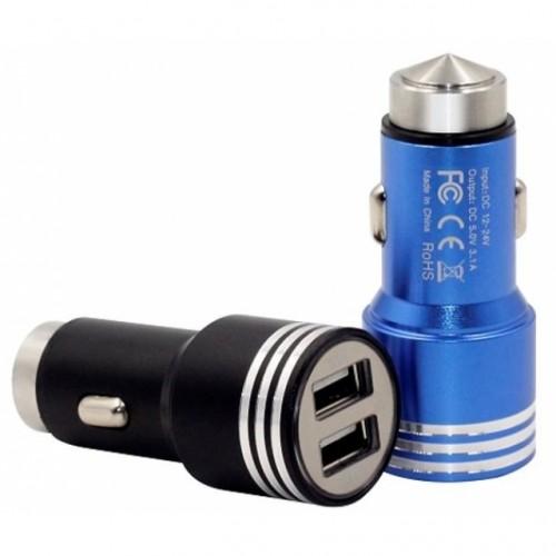 Зарядное устройство Пуля 2USB металл