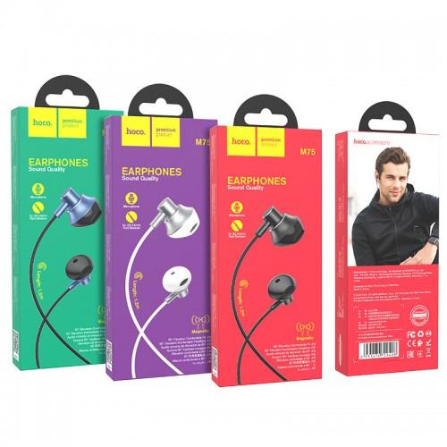 Наушники Hoco M75 Belle, микрофон, регулятор громкости, кнопка от