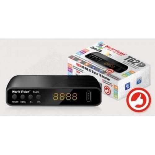Цифровая приставка T2 World Vision T624D3 DVB-T2 дисплей 2*USB