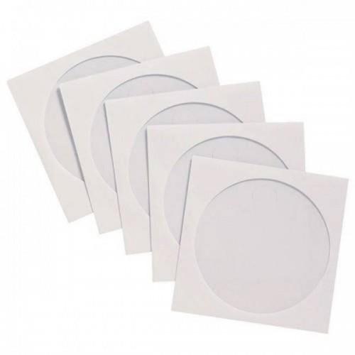 Конверт бумажный на 1 CD/DVD с окном (белый) (100)