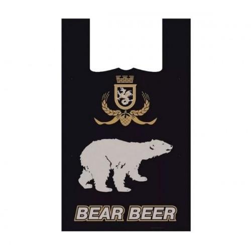 ПАКЕТ МАЙКА Медведь 43*30cm 14мкм (за упаковку 100 шт)