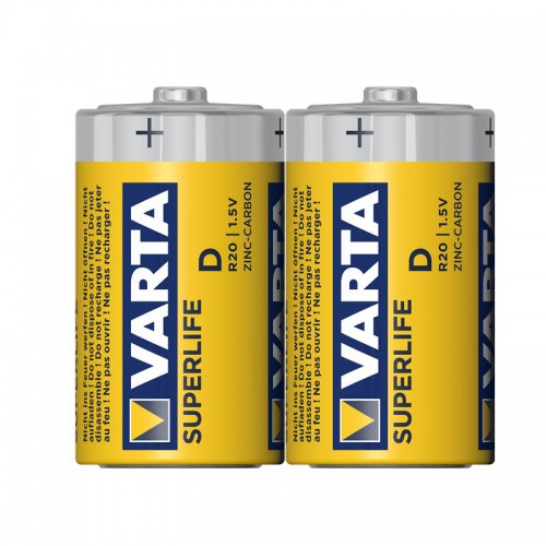 Элемент питания Varta SuperLife R20 (б/б) (2шринк) 2020 101 302 2
