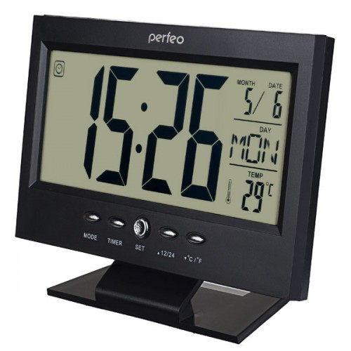 Электронные часы Perfeo Set PF-S2618, Цвет - Черный